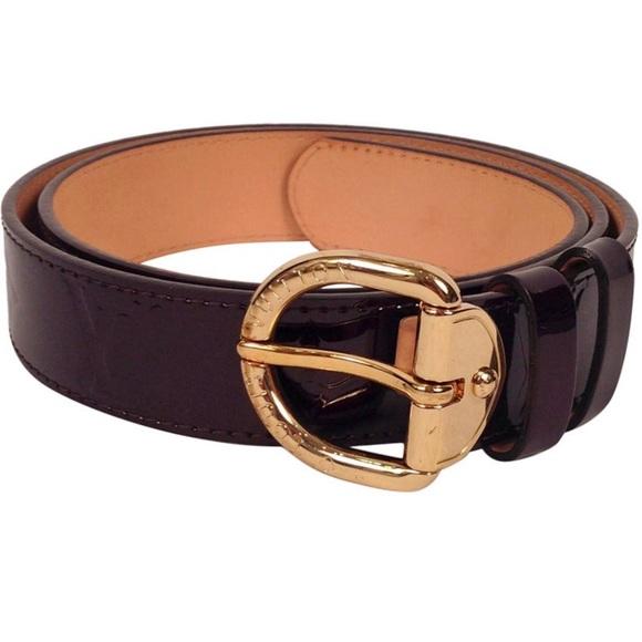 Louis Vuitton Accessories - Louis Vuitton Amarente Vernis belt size 90